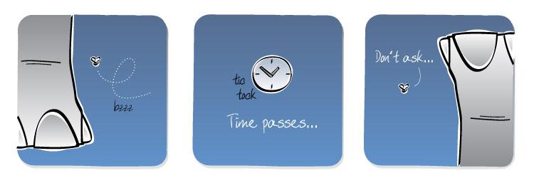 [Caption] Time passes... [Gnat] Don't ask...
